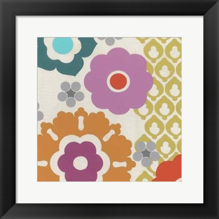 Framed Candy Blossoms IV Print