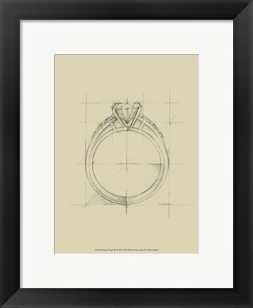 Framed Ring Design III Print