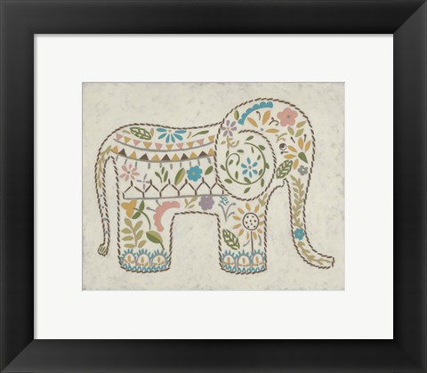 Framed Laurel's Elephant I Print