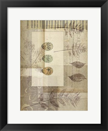 Framed Small Notebook Collage IV Print