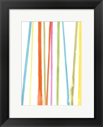 Framed Cabana Stripes II Print