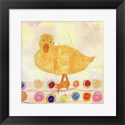 Framed Polka Dot Duck Print
