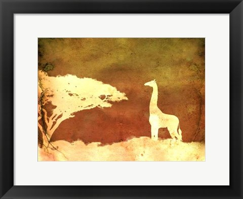 Framed Safari Sunrise IV Print