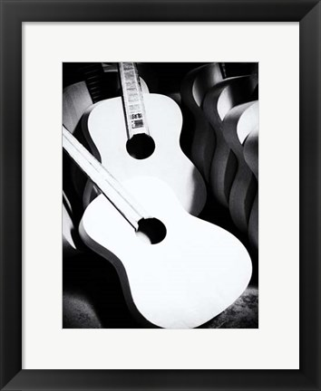 Framed Guitar Factory VII Print