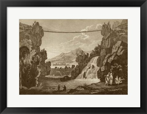 Framed Bridge of Chains Print