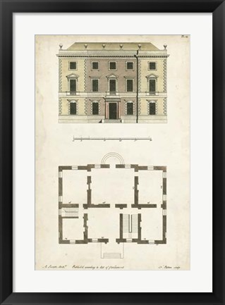 Framed Design for a Building I Print