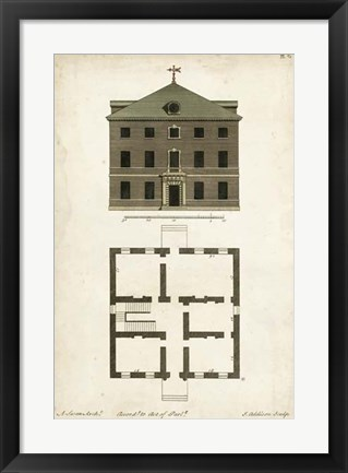 Framed Design for a Building III Print
