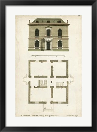 Framed Design for a Building IV Print