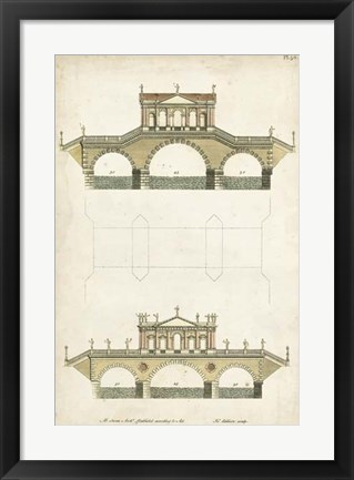 Framed Design for a Bridge II Print