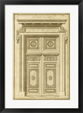 Framed Vintage Door II Print