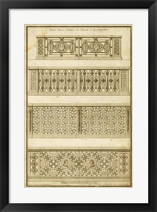 Framed Vintage Gate Design II Print