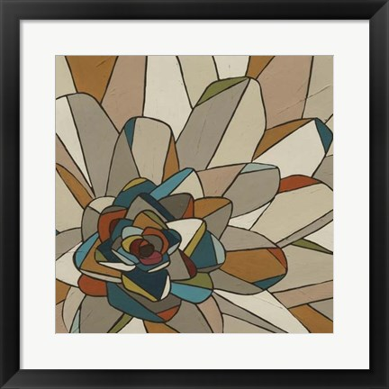 Framed Stained Glass Floral II Print