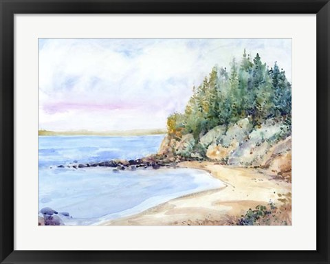 Framed Shore Line II Print