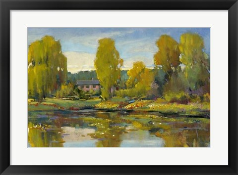 Framed Monet's Water Lily Pond II Print