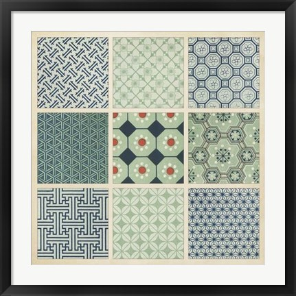 Framed Pattern Patch II Print
