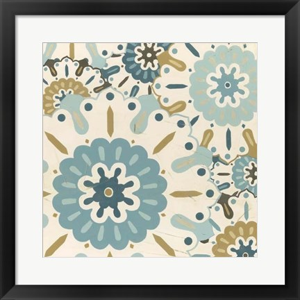 Framed Blue Lace III Print