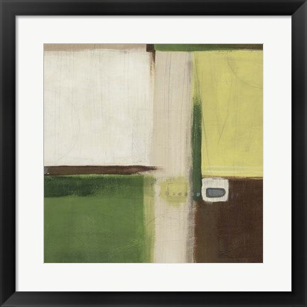 Framed Green Field I Print