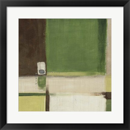 Framed Green Field II Print