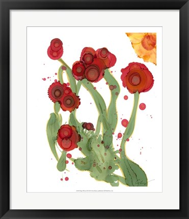 Framed Poppy Whimsy III Print