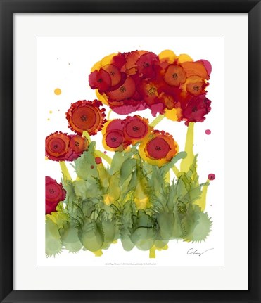 Framed Poppy Whimsy IV Print