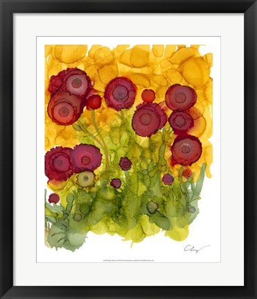 Framed Poppy Whimsy VIII Print