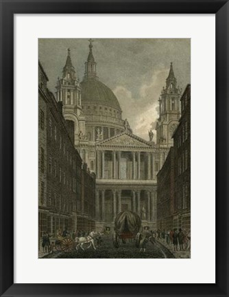 Framed St. Paul's Cathedral, London Print