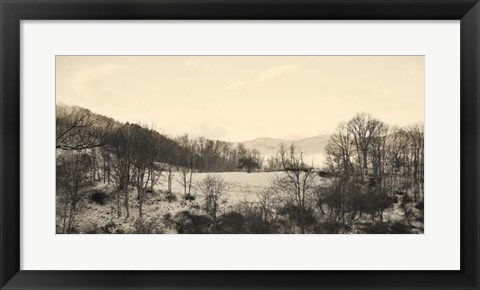 Framed Foggy Mountain II Print