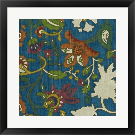 Framed Jewelled Pashmina I Print
