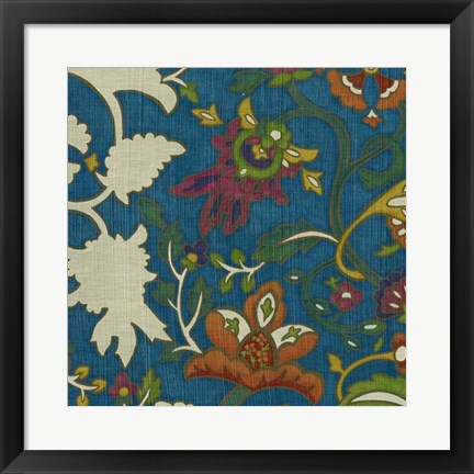 Framed Jewelled Pashmina II Print