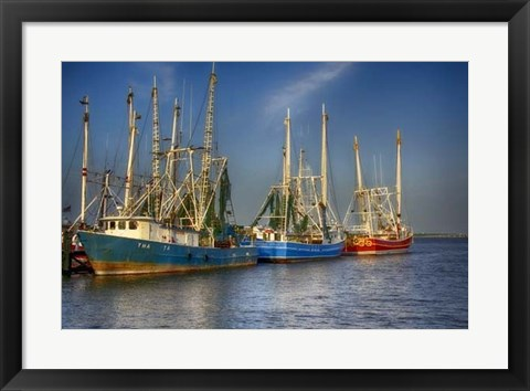Framed Shrimp Boats III Print