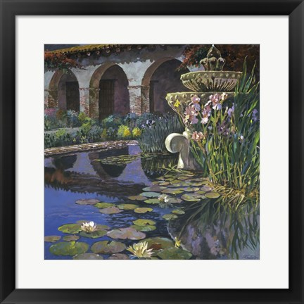 Framed Fountain at San Miguel I Print