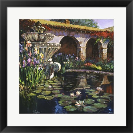 Framed Fountain at San Miguel II Print