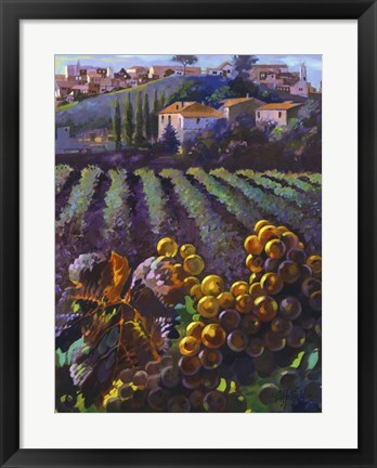 Framed View of Tuscany Print