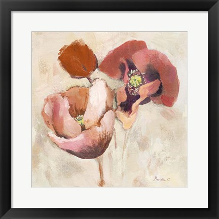 Framed Painted Poppies Print