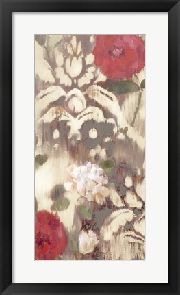 Framed Ikat Rose I Print