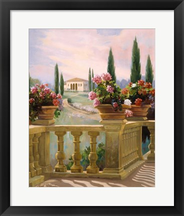 Framed Tuscany Morning Print