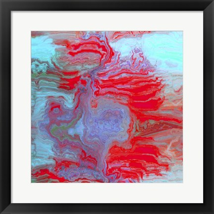 Framed Coral Glass II Print