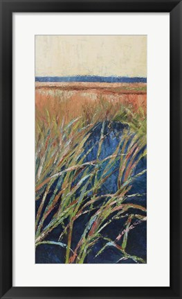 Framed Pastel Wetlands I Print