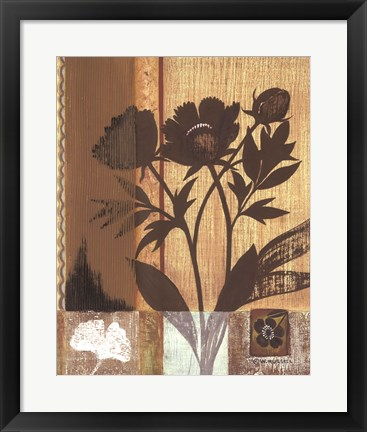 Framed Asian Peonies Print