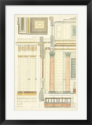 Framed Architect's Plan V Print