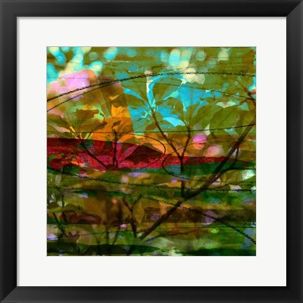 Framed Abstract Leaf Study III Print
