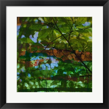 Framed Abstract Leaf Study IV Print