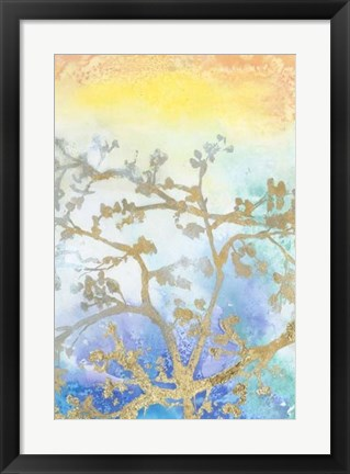 Framed Gilt Branches II Print