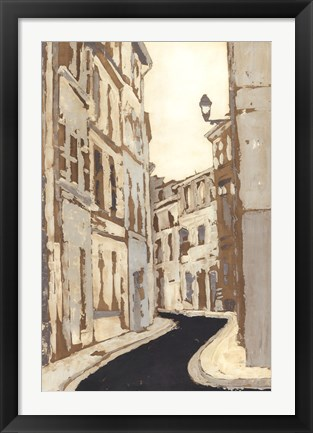 Framed Non-Embellished Streets of Paris II Print