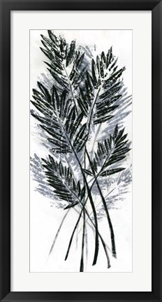 Framed Palm Leaf Fresco I Print
