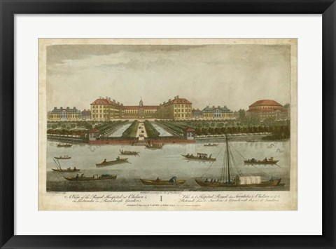 Framed Royal Hospital at Chelsea Print