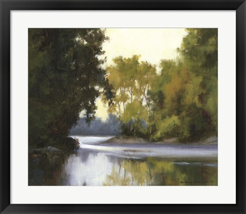 Framed River Reflections Print