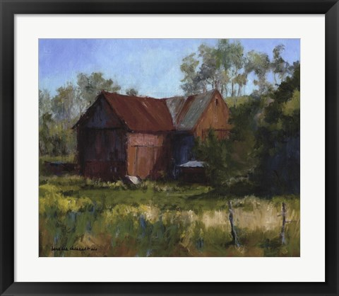 Framed Amish Country Barn Print