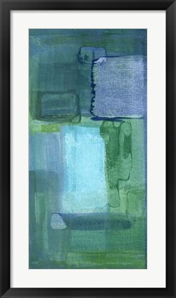 Framed Blue Patch II Print