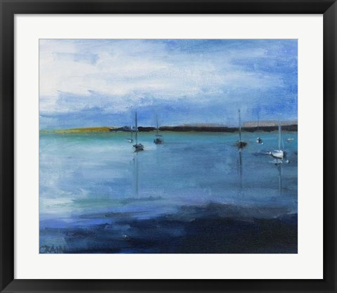 Framed White Fish Bay Print